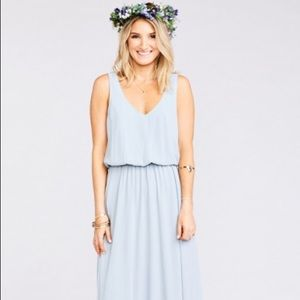 Show Me your MUMU Steel Blue Kendall Maxi